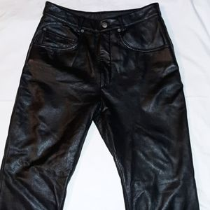 Wilson's Maxima Sexy Black Leather Pants 10 Boot